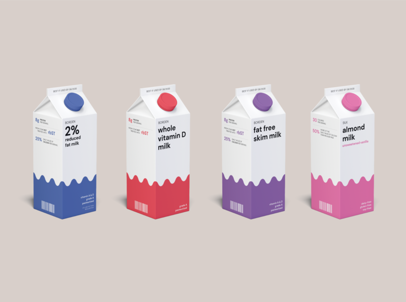 Minimalist Breakfast: Cereal Cartons carton milk packaging mockup packaging design mockup packaging design branding breakfast minimalist