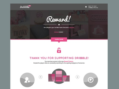 Dribbble Reward! Landingpage