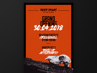 Black Canvas - Grand Opening Poster Design