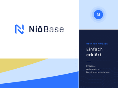 NiōBase - Brand Identity logo design brand assets software as a service gdpr branding saas ci saas cd brand identity branding saas branding gdpr niobase