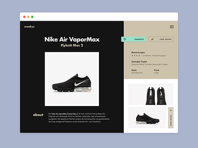 Nike E-Commerce Detail Page - Design Exploration #01 ecommerce layout design nike collectui e-commerce shop e-commerce ui design dailyui