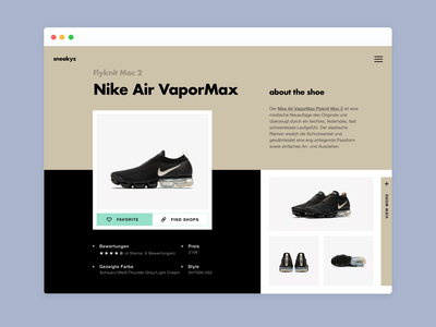 Nike E-Commerce Detail Page - Design Exploration #02 nike ecommerce app ecommerce design ecommerce business ecommerce shop e-commerce layout ecommerce detail ecommerce uxdesign collectui dailyui