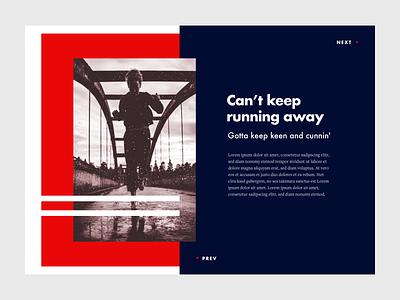 "Blog Detail Page ""Running Away"" - Design Exploration #02 ui layout design blog article typography editorial blog detail blog design"