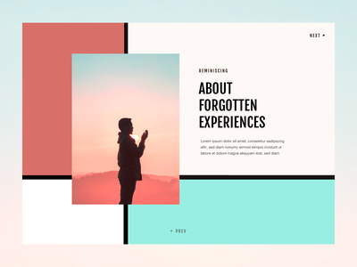"""Blog Detail Page """"Reminisicing"""" - Design Exploration #03 blog layout editorial layout editorial design blog page blog header blog design minimalistic design whitespace typography"""