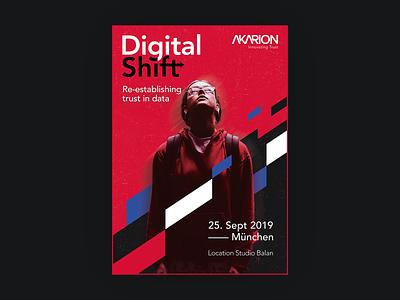 DigitalShift - Poster Sujet Design event branding event flyer event poster event ad posters poster a day poster art branding design branding sujet design poster design digitalshift