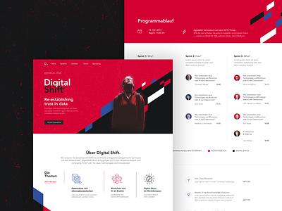 DigitalShift 2019 - Event Landing Page Design akarion digitalshift identity landingpage landingpage event webdesign event branding branding page web site