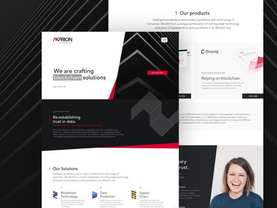 Akarion - Landingpage Website Redesign #01 startup landing page startup branding startup web blockchain startup microsite landingpage redesign akarion web design