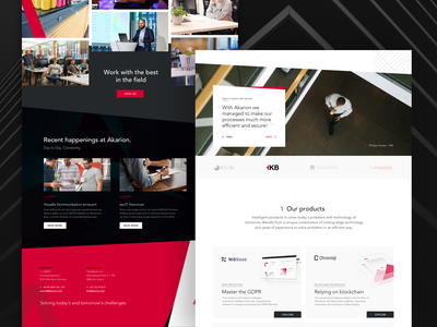 Akarion - Landingpage Website Redesign #02 testimonials product page careers page career section screendesign home page redesign concept redesign web webdesign landingpage landingpagedesign startup web startup branding startup blockchain startup akarion