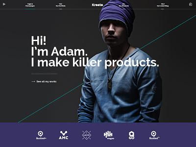 Kreate – Expert Wordpress Theme for Creative Businesses interactive business website ui ux web design creative uxdesign uidesign web design wordpress