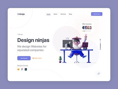 Header Exploration - Design Ninja Web Ui. website icon illustration header exploration vector
