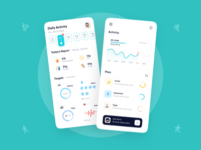 Fitness App design 🏋️♀️ crossfit exercise fitness app health workout gym ux