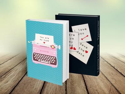 Valentines Postcard Typewriter