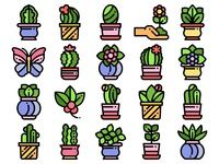 House Flowers Icons