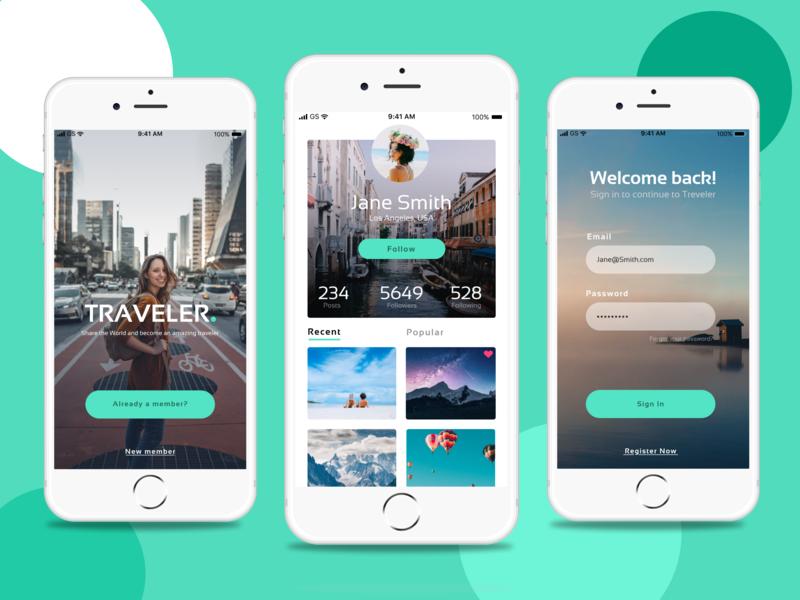 Traveler App Design free figma free app free app design freebie iphone app trevel app app design mobile design ui design mobile app design mobile app