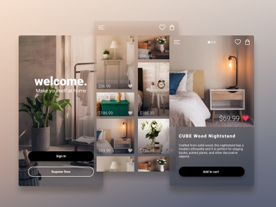 Home Interior App Design furniture app home interior ui  ux application app concept mobile ui app ui deisgn mobile app