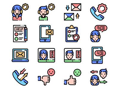 Customer Service Icons illustrator rating icons customer icons avatar icons icons design icons pack icons set icon customer service icons icons