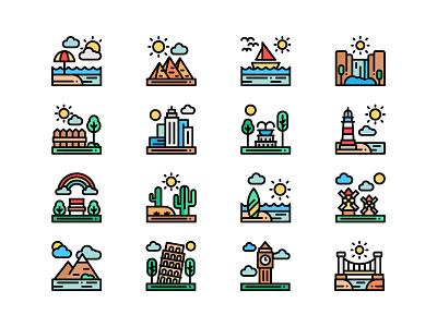 Landscape Icons icons pack icons set landscape icons landscape icon icons