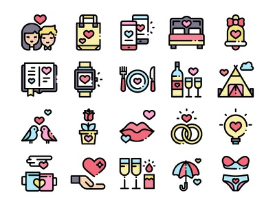 Love Icons love letter love birds icons icon love day love love icons