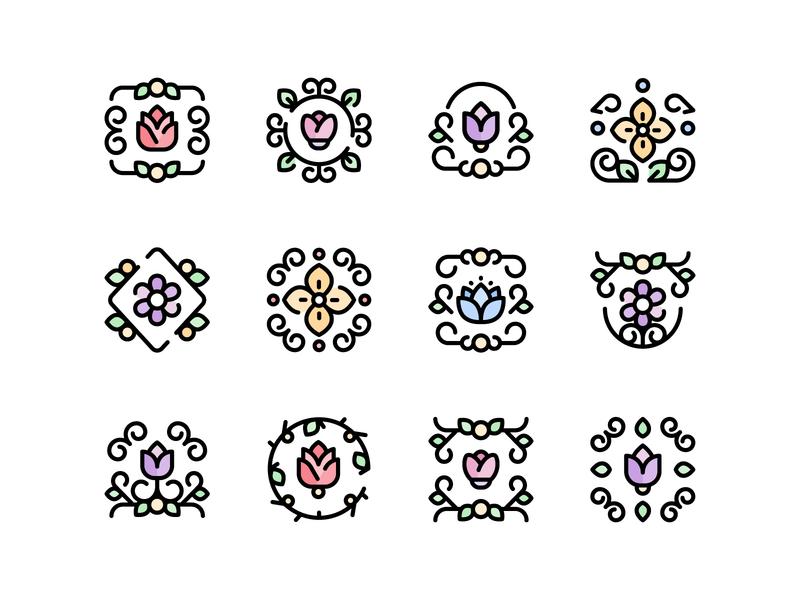 Floral Design Icons retro icons floral design icons floral design flowers icons flowers icons
