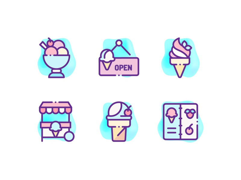 Ice Cream Shop Icons icons design candy icon logo illustration art icons pack icon illustration sweets icons icons set ice cream logo ice cream truck ice cream cone ice cream icons ice cream shop ice cream