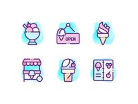 Ice Cream Shop Icons
