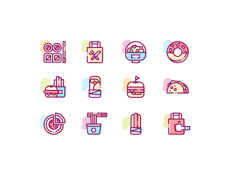 Take Away Icons line icons icons design burrito icon taco icon noodlle icons pasta icon pizza icon fast food icons fast food food icons take away icons restaurant icons burger icon sushi icons sushi asian food icons asian food mexican food icon mexican food donut icon