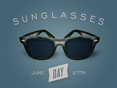 Sunglasses Day  sunglasses day by fabio perez dribbble