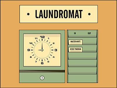 Laundromat 2 breakingbad walterwhite jessepinkman laundromat illustration jesse pinkman walter white breaking bad