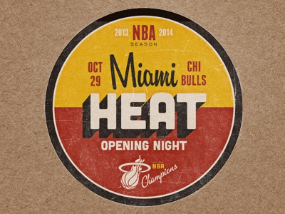 Miami heat opening night