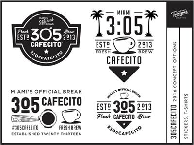 305cafecito 2016 305cafecito miami badge concept logo branding