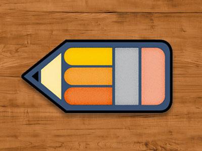 Pencil Pin Badge