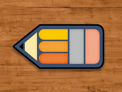 Pencil Pin Badge rebound pin badge pencil