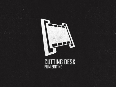 Cutting Desk Logo logo texture black white