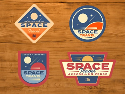 Space Patches retro stickers patches badges space