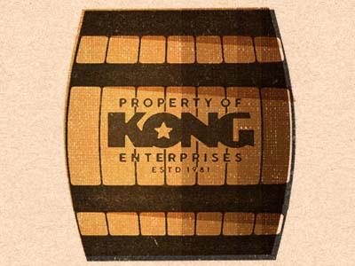 Kong Barrel textures donkey kong kong vector illustration