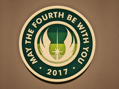 May 4 texture jedi patch badge starwars may4 maythefourth