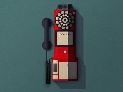 Payphone twentyonecreative retro illo textures illustration