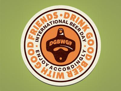 International Beer Day Badge type vector beer badge beer day