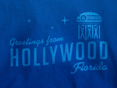 Hollywood Greetings Tee typography lockup royal type vintage t-shirt chewy tee hollywood
