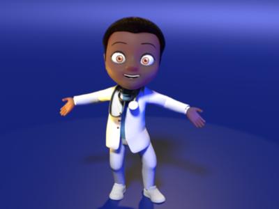 Dr. Boy 3D animation. 3d character blender