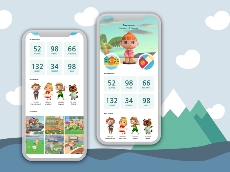 Daily UI #6 - Profile ft. Animal Crossing