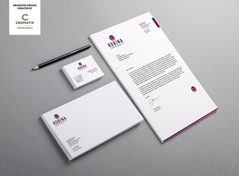 Branding design Robina - work by Cromatix