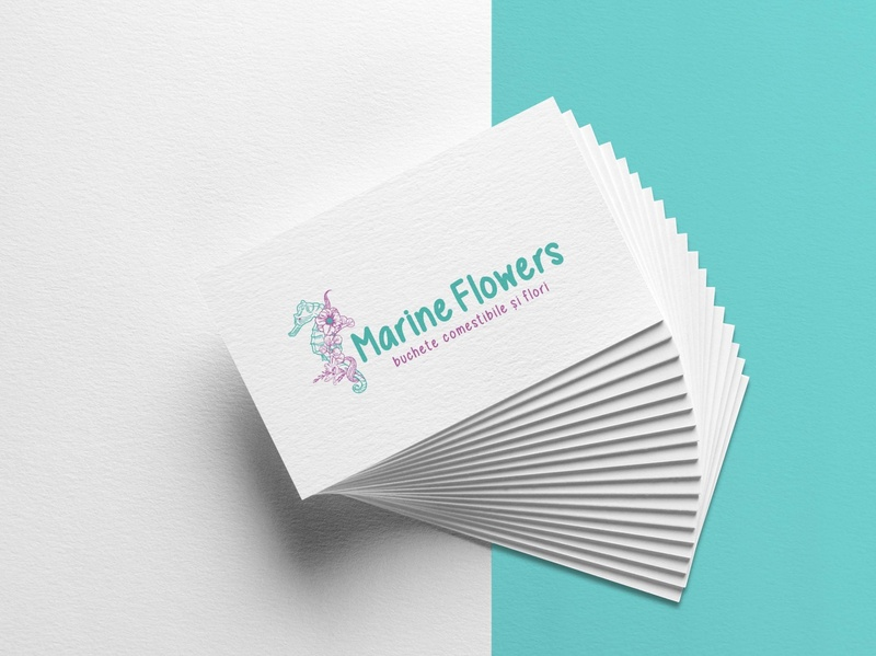 Cromatix work   Branding  logo Marine flowers busness cards brand chisinau design identity creative cromatix creative image lab cromatix cromatixlab moldova branding