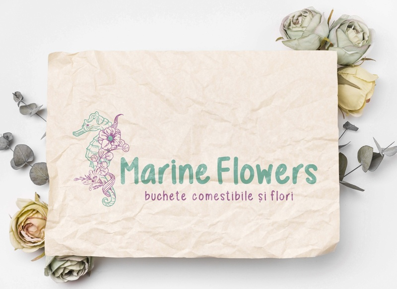 Cromatix work  Branding logo Marine flowers typography identity brand design illustration cromatix creative image lab cromatix cromatixlab chisinau branding