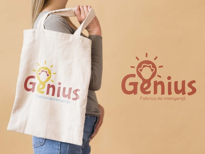 Cromatix presents a new work for Genius bag identity illustration chisinau cromatix design cromatix creative image lab creative cromatixlab moldova branding