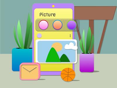 3D recreate simple ui firstshot illustration