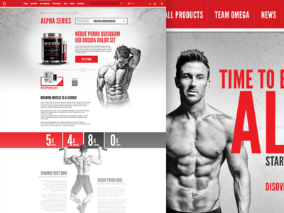 Omega Nutrition athletes proteins muscle ui post prod 3d branding