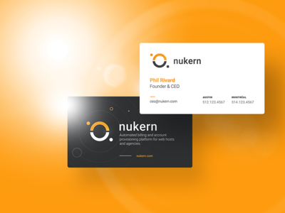 Nukern Business cards - Branding