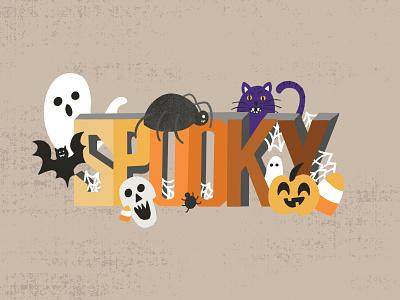 Spooky Halloween Warm Up lettered illustration art lettered art handlettering typographic art typography art graphic design digital illustration digital art illustration artist illustration art illustration lettering art lettering