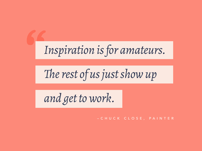 Inspiration is for Amaeturs type coral inspiration quotes